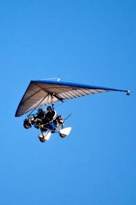 Microflyer over Victoria Falls