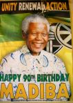 Nelson Mandela poster in school.