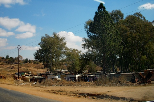 """Informal Settlement"" or squatter park not far from JAM HQ"