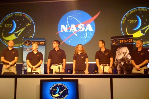 STS-127 Crew @ NASA HQ