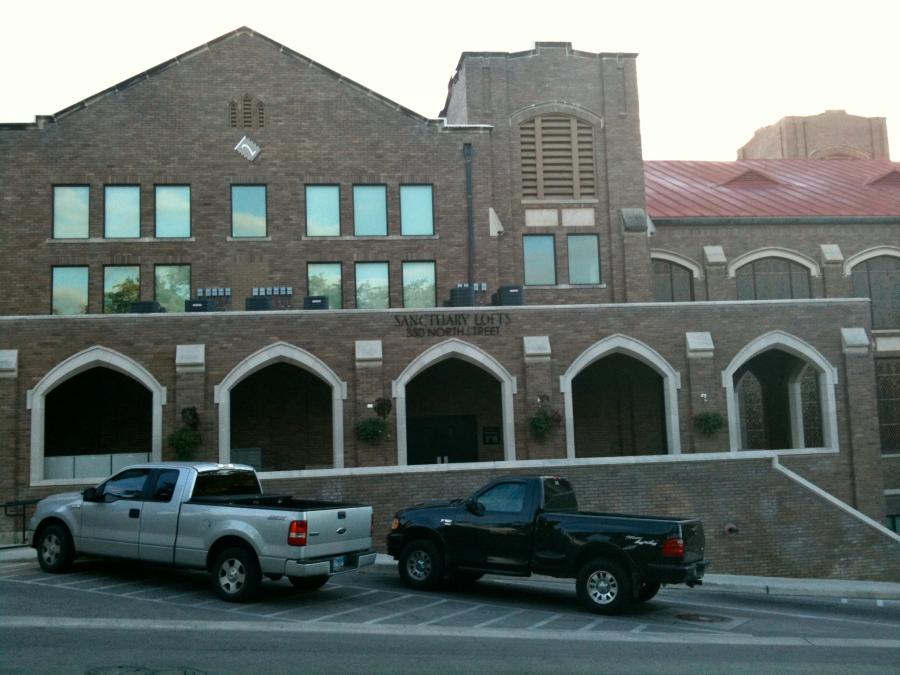 San Marcos Church portion of Sanctuary Lofts