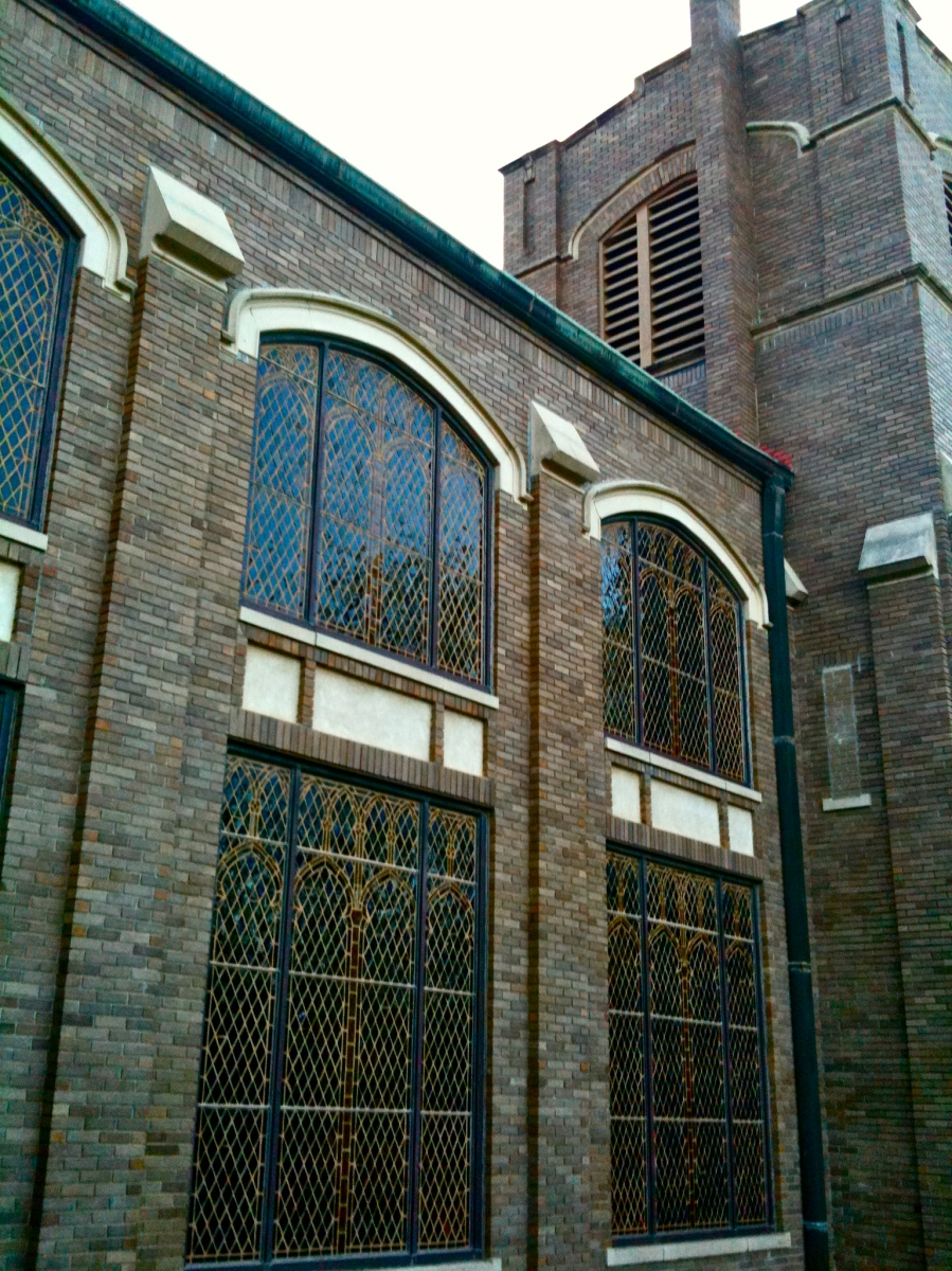 San Marcos stained glass windows remain