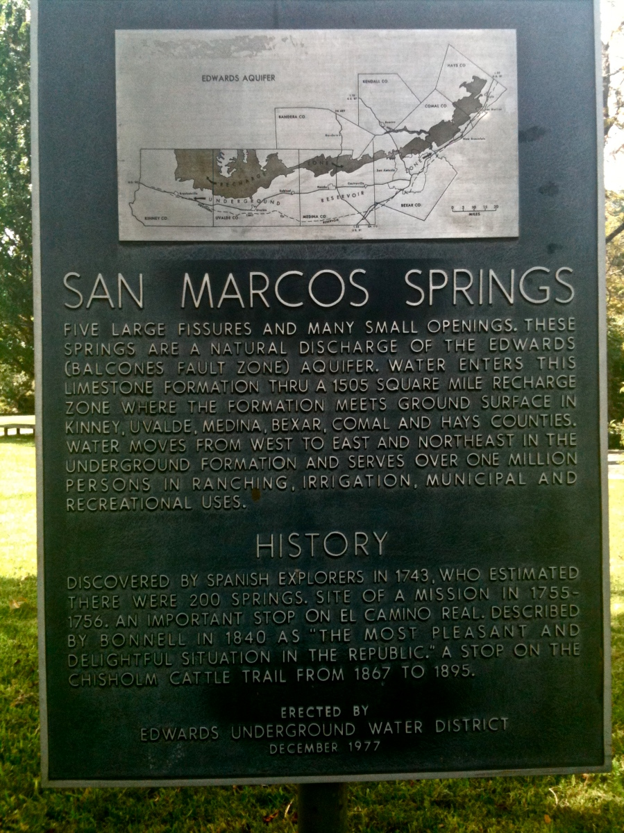San Marcos Aquarena Springs sign
