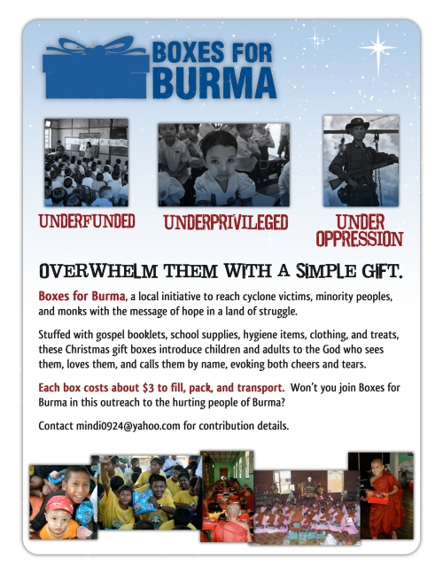 Boxes for Burma