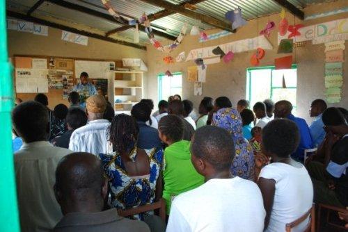Pastor Kebby preaching