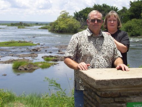 Phil and Melody Stephens on the Mighty Zambezi!