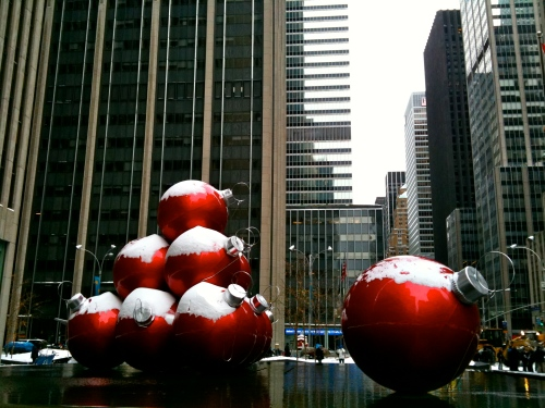 NYC: Snow Ornaments