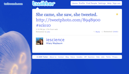 """""""She Came, She Saw, She Tweeted"""""""