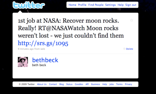 Moon Rock Tweet