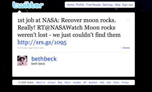 Moon Rock Tweet
