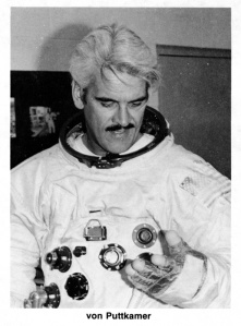 Jesco Von Puttkamer trying out space suit