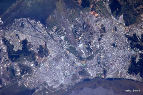 Chile after earthquake: Soichi Noguchi's pic from space