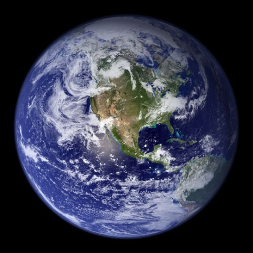 Earth: Blue Marble. Credit: NASA