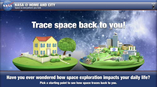 NASA's Interactive program to find space in your life.
