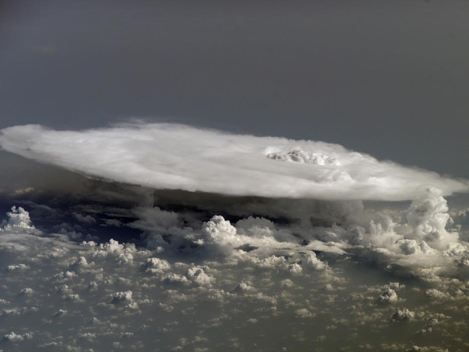 Cumulonimbus Clouds Over Africa