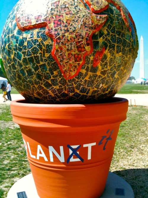 """Plant It"" Earth art sculpture on National Mall"