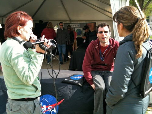 @oceanChick99 interviewing Maria-Jose @theAGU for UnanimousMovie.com