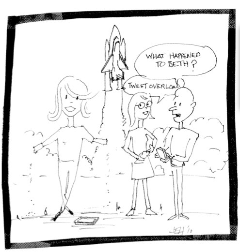 Cartoon by NASA's Jim Hull