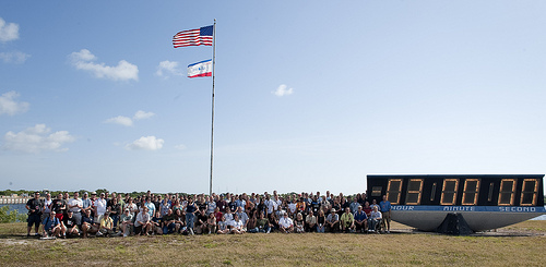STS-132 Space Tweeps with Countdown Clock
