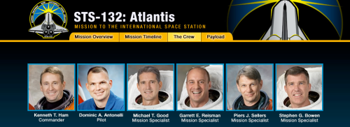 STS-132 astronauts