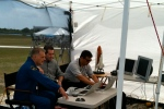 SpaceFlightNow tent