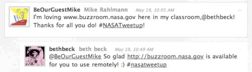 Tweet about Buzzroom