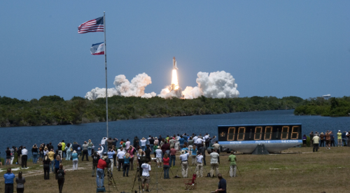 STS-132 Launch from Press Site. Credit: NASA