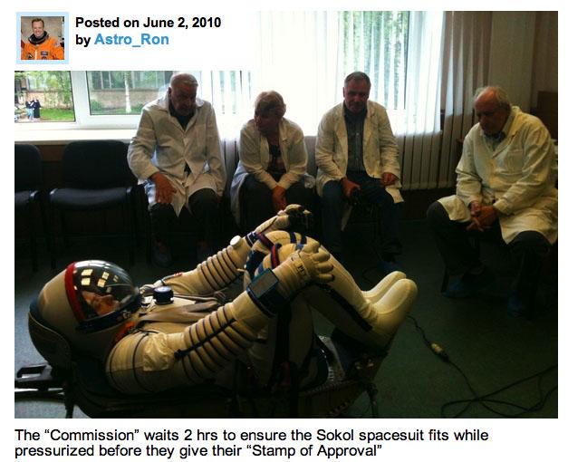 Astro_Ron in Sokol Spacesuit