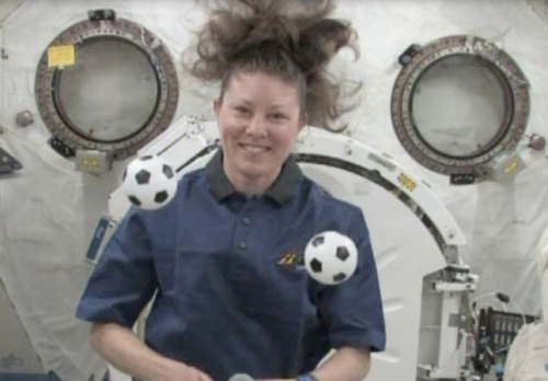 Astronaut Tracy Caldwell Dyson on Space Station. Credit: NASA