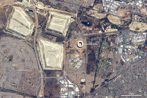 World Cup stadium from space. Credit: NASA