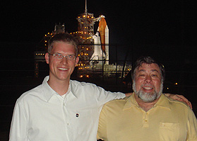 Chris Kemp and Steve Wozniak