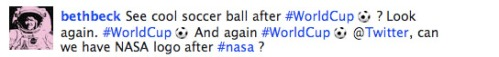 World Cup #nasa tweet