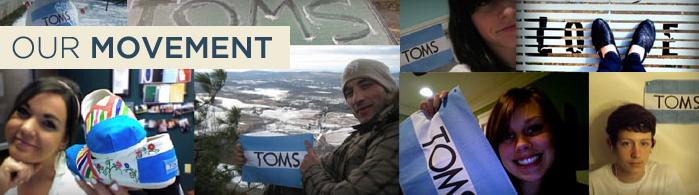 Toms Shoes Movement. Credit: TOMS