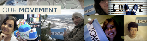 Toms Shoes Movement. Credit: TOMS