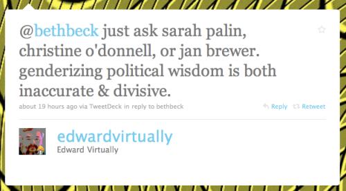 @edwardvirtually tweet about gender differences