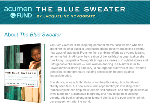 The Blue Sweater by Jacqueline Novogratz