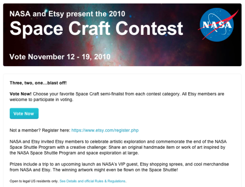 NASA/Etsy Space Craft Contest