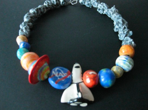 Shuttle Beaded Necklace