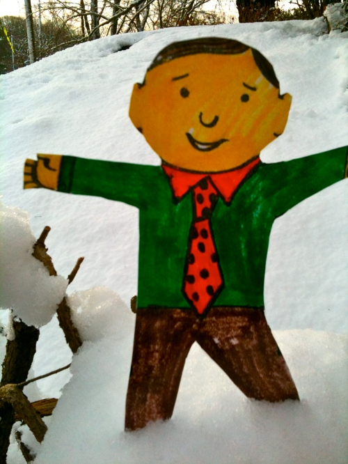 Flat Stanley in DC snow