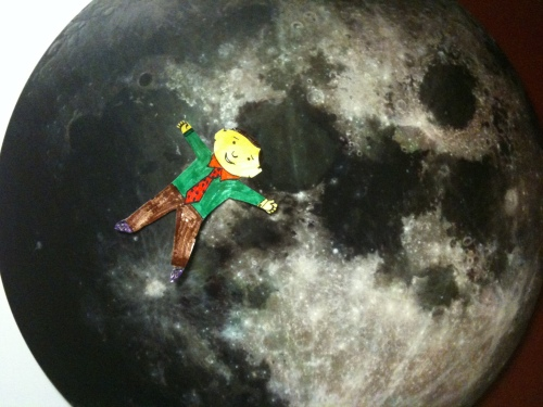 Flat Stanley on the Moon: Nope. No cheese!