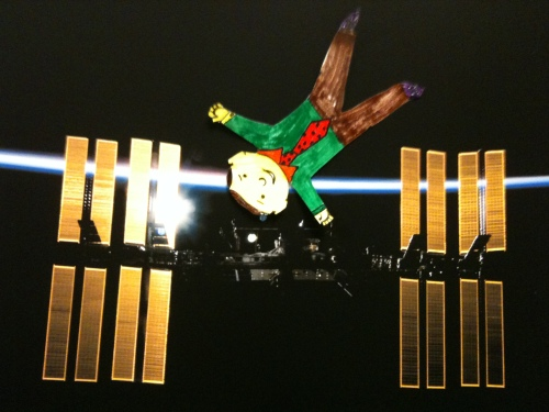 Flat Stanley visits International Space Station