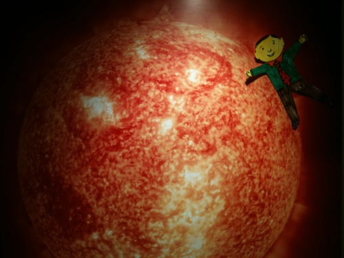 Flat Stanley scorched by Sun