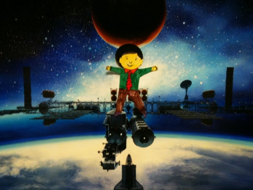 Flat Stanley tours Space Station