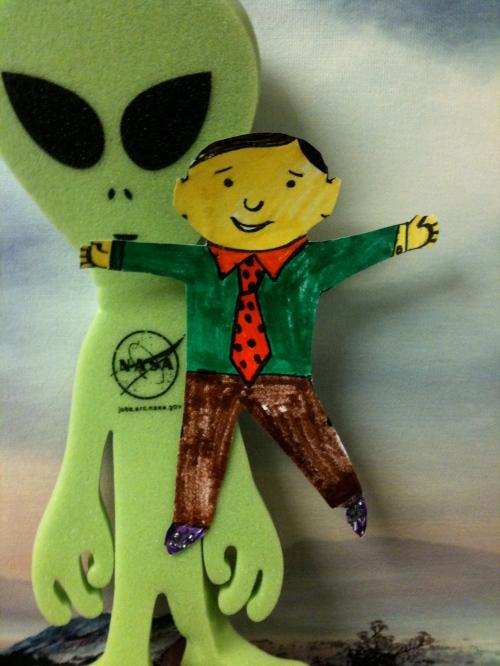 Flat Stanley & NASA's Alien