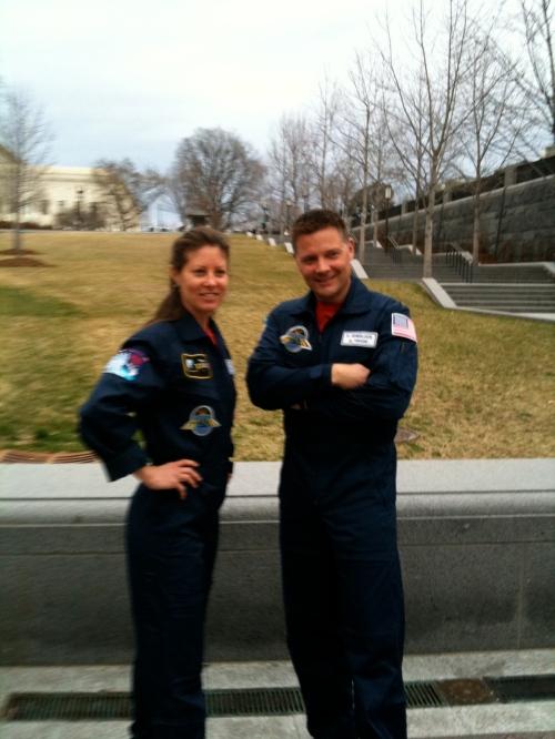 Astronauts Tracy Caldwell Dyson & Doug Wheelock