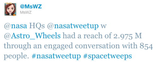 Tweet stats from @astro_wheels tweetup