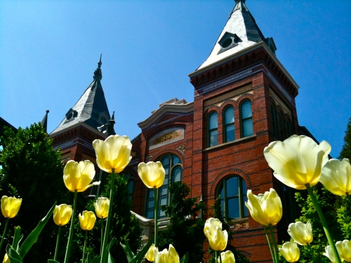 Spring at Smithsonian Castle