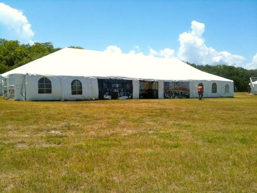 STS-134 Tweetup Tent
