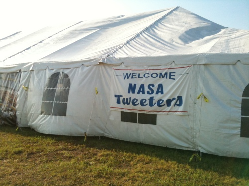 Welcome Sign at NASA Tweetup Tent