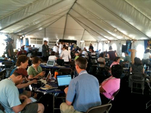 Tent full of tweeters!